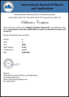 International Journal of Physics and Applications